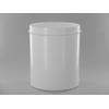 Pot plastique blanc opaque  H16.5cm