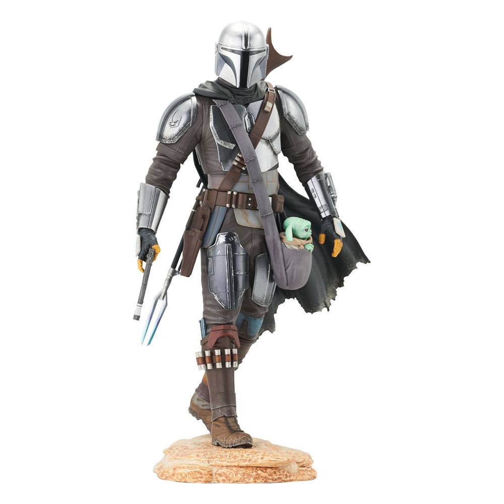 Statuette Star Wars The Mandalorian Premier Collection The Mandalorian with The Child 25cm 1001 Figurines
