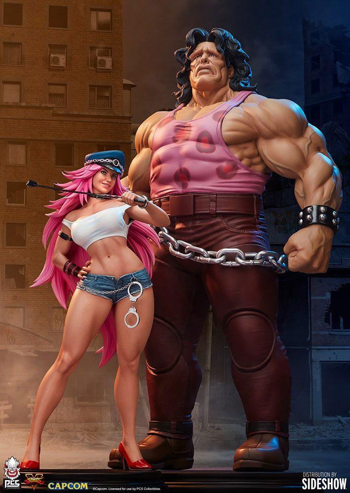 Statuette Street Fighter Mad Gear Exclusive Hugo & Poison Set 43-67cm