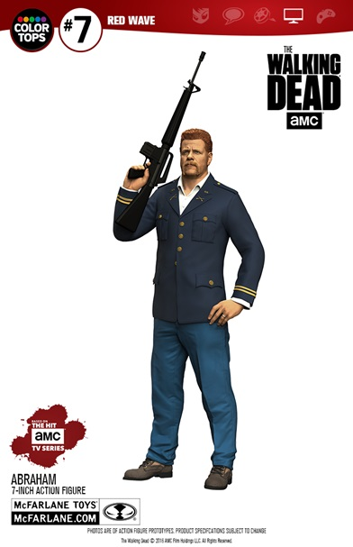 Figurine The Walking Dead Color Tops  Abraham Ford 24cm 1001 Figurines