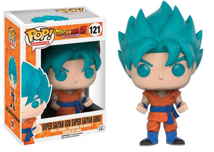 Goku Super Sayajin God Dragon Ball Funko Pop Cabello Azul