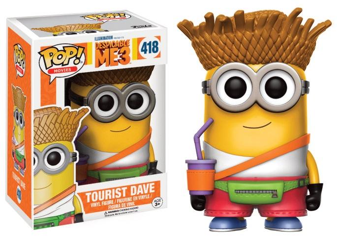 Figurine moi moche et m chant 3 funko pop tourist dave 9cm funko pop disney animation moi - Lego moi moche et mechant ...