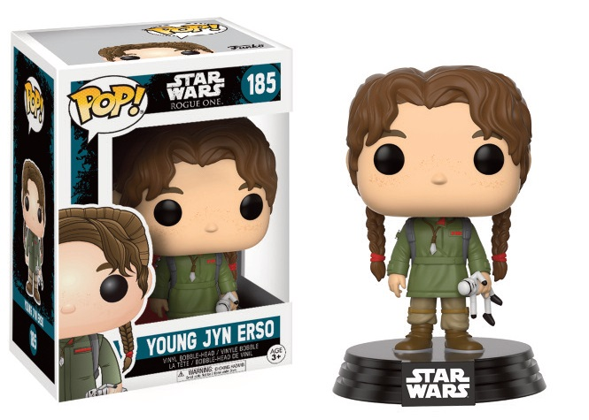 Figurine Star Wars Rogue One Funko POP! Bobble Head Young Jyn Erso 9cm 1001 Figurines