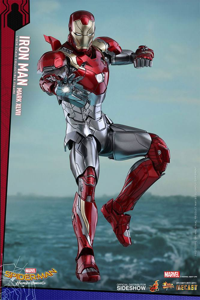 Figurine Spider-Man Homecoming Movie Masterpiece Diecast Iron Man Mark XLVII 32cm 1001 Figurines