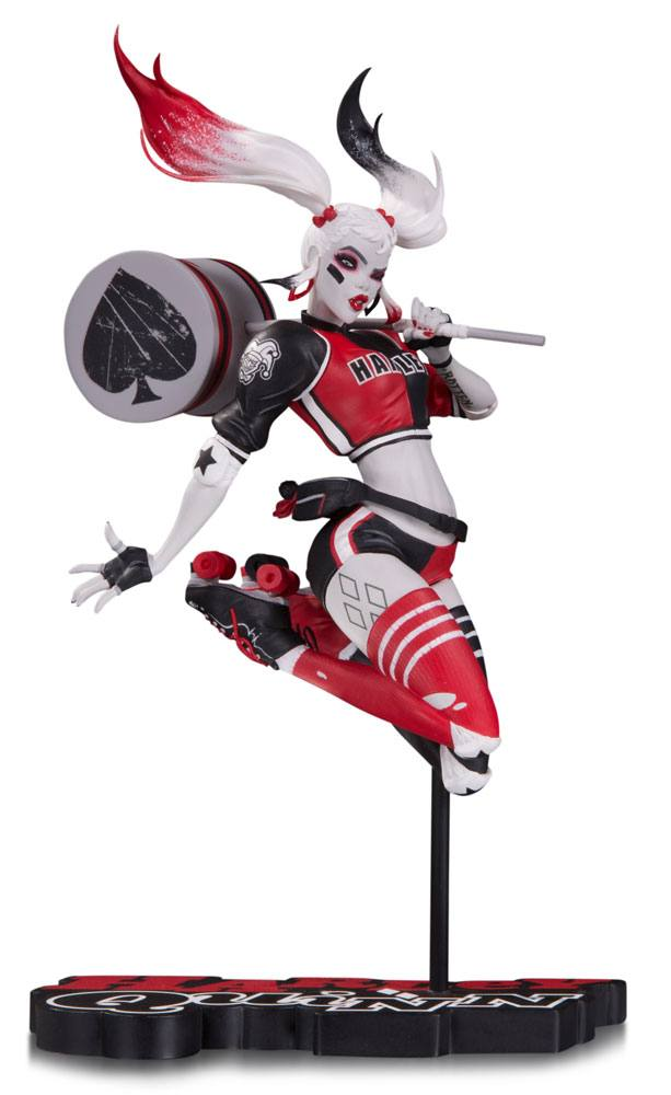statuette dc comics red white black harley quinn by babs tarr sdcc 2017 18cm figurines. Black Bedroom Furniture Sets. Home Design Ideas