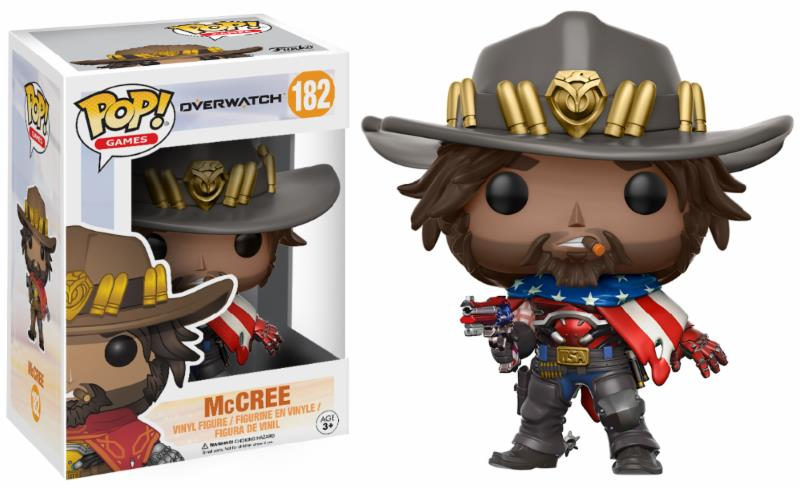 Figurine Overwatch Funko POP! McCree USA 9cm 1001 figurines