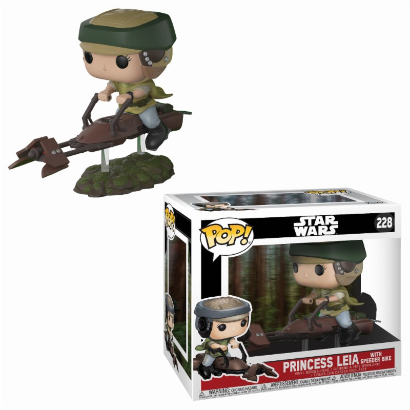 Figurine Star Wars Funko POP! Leia with Speeder Bike 10cm 1001 Figurines