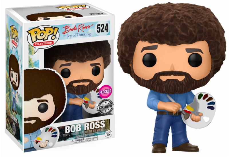 Figurine The Joy of Painting Funko POP! Bob Ross Flocked 9cm 1001 Figurines