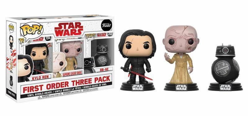 Pack 3 figurines Star Wars Episode VIII Funko POP!  First Order 9cm 1001 Figurines
