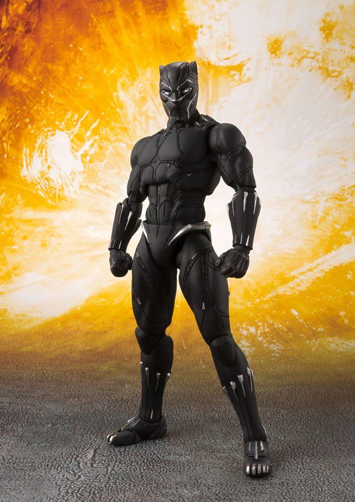 Figurine Avengers Infinity War S.H. Figuarts Black Panther & Tamashii Effect Rock 16cm 1001 Figurines