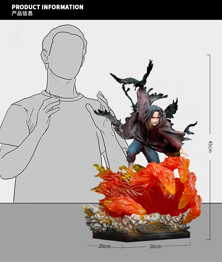 Statue Naruto Shippuden Uchiwa Itachi 45cm 1001 Figurines 15