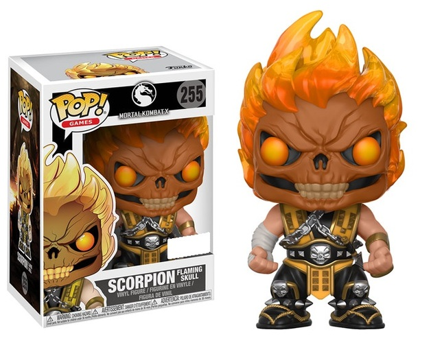 Figurine Mortal Kombat Funko POP! Scorpion Flaming Skull 9cm 1001 Figurines