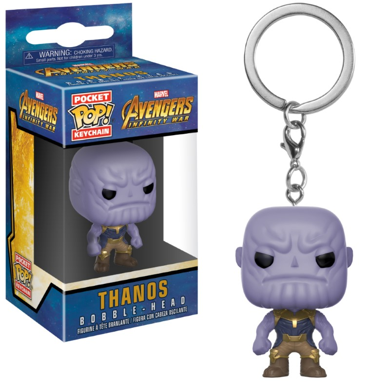 Porte-clés Avengers Infinity War Pocket POP! Thanos 4cm 1001 Figurines