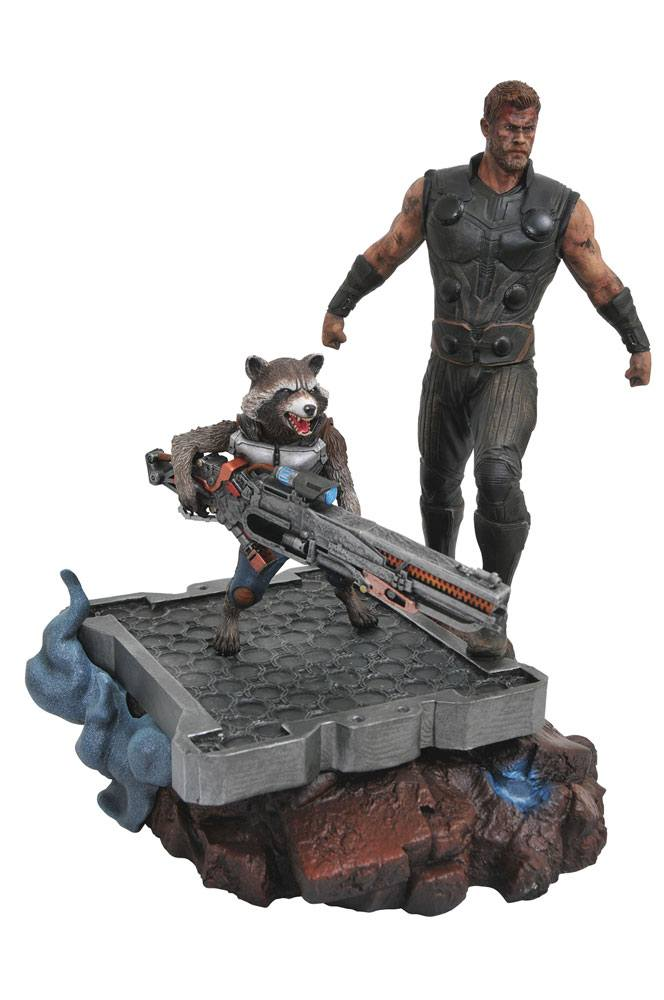 Statuette Avengers Infinity War Marvel Premier Collection Thor & Rocket Raccoon 30cm 1001 Figurines