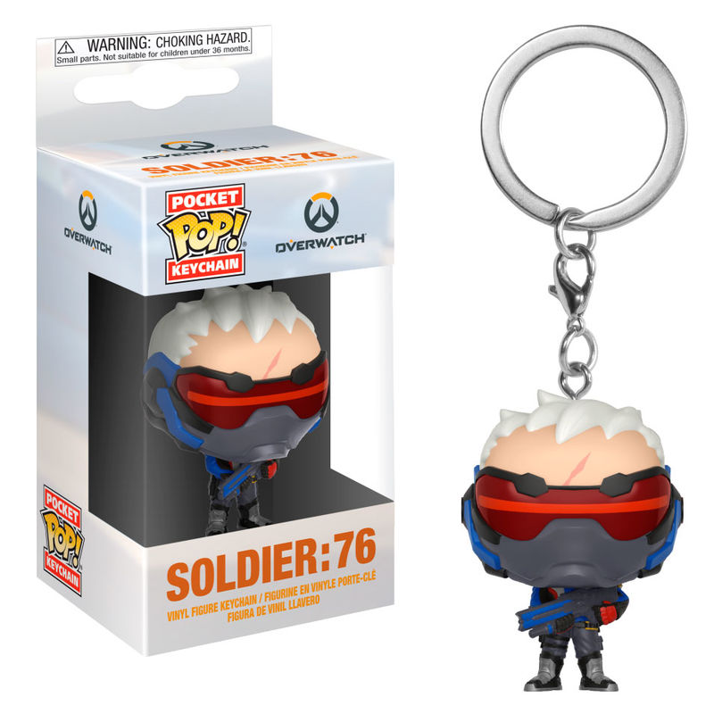 Porte-clés Overwatch Pocket POP! Soldier 76 4cm 1001 Figurines