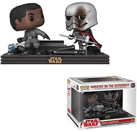 Pack 2 Funko POP! Star Wars Movie Moments Bobble Head Finn vs Captain Phasma 9cm 1001 Figurines