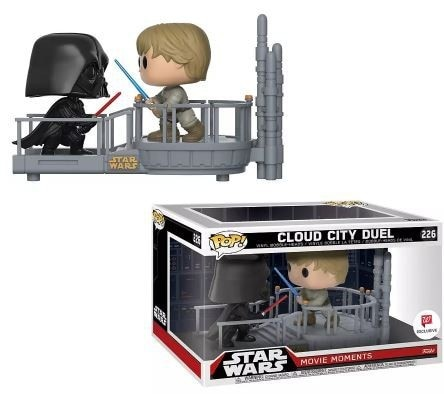 Pack Star Wars 2 Funko POP! Movie Moments Bobble Head Cloud City Duel 9cm 1001 fIGURINES