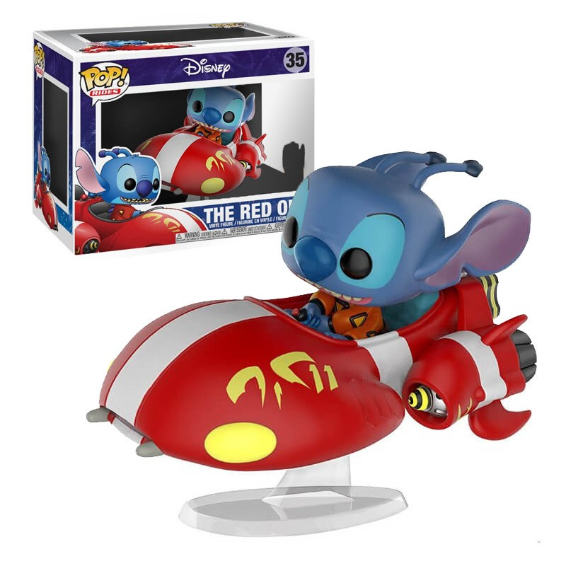 Figurine Disney Funko Pop Rides Stitch On Red One Édition spéciale  1001 Figurines