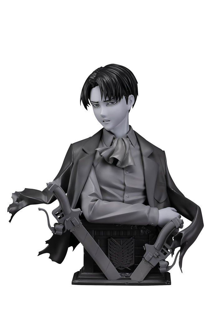 Statuette L'Attaque des Titans Levi Up Figure Gray Ver. 25cm 1001 Figurines
