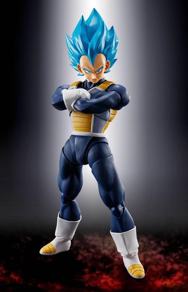 Figurine Dragon Ball Super Broly S.H. Figuarts Super Saiyan God Super Saiyan Vegeta 14cm 1001 Figurines