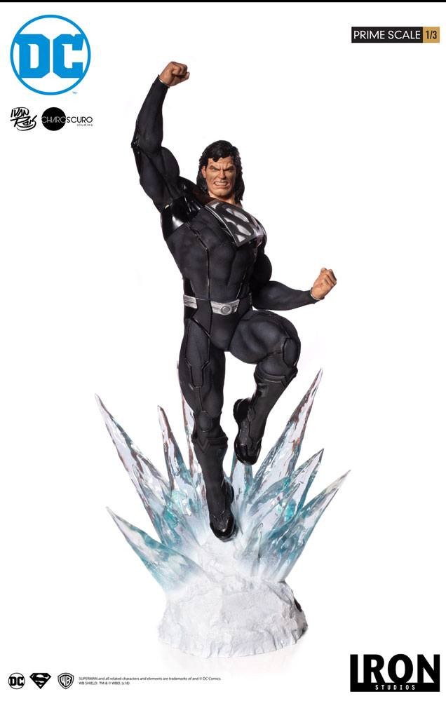 Statue DC Comics Prime Scale Superman Black Suit 95cm 1001 Figurines