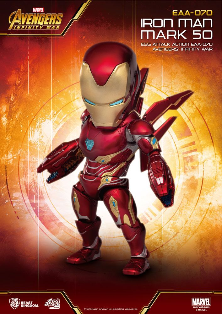 Figurine Avengers Infinity War Egg Attack Iron Man Mark 50 - 16cm 1001 Figurines