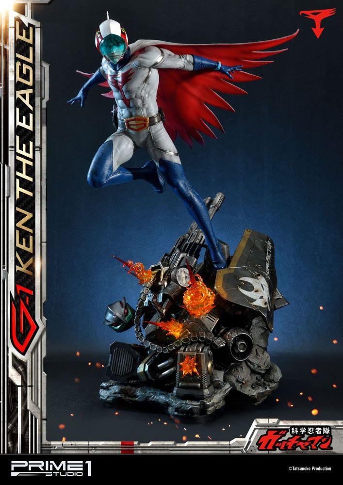 Statue Science Ninja Team Gatchaman G-1 Ken the Eagle 73cm 1001 Figurines
