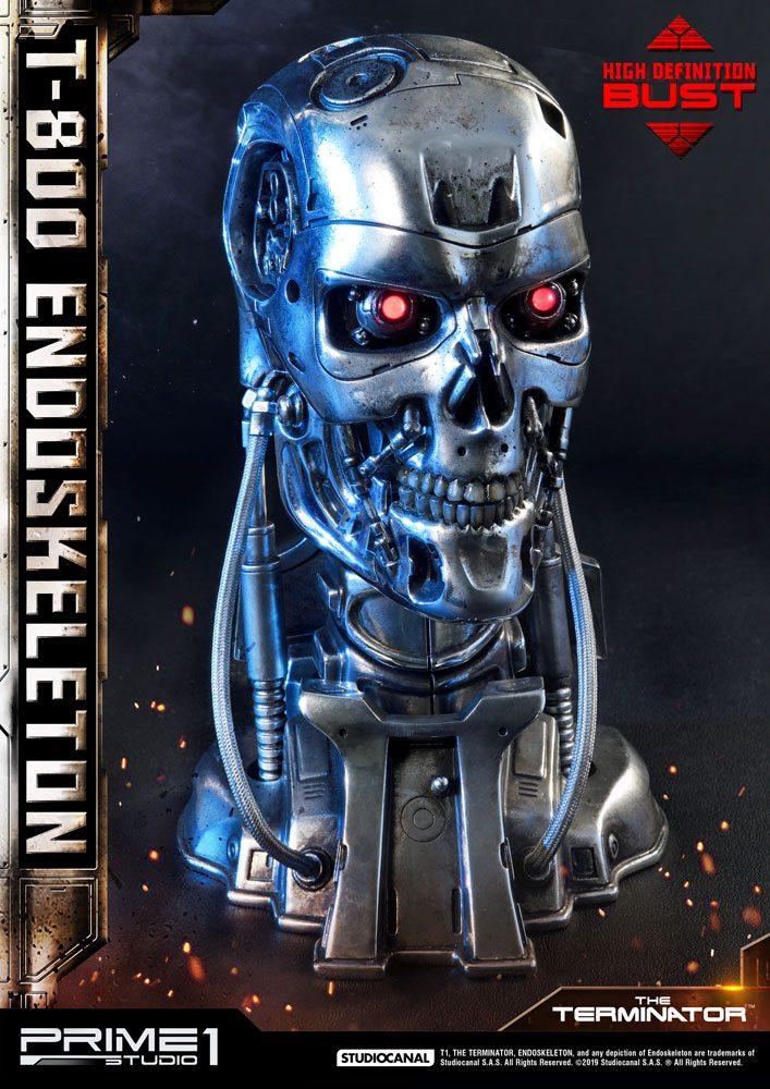 Buste Terminator High Definition T-800 Endoskeleton Head 22cm