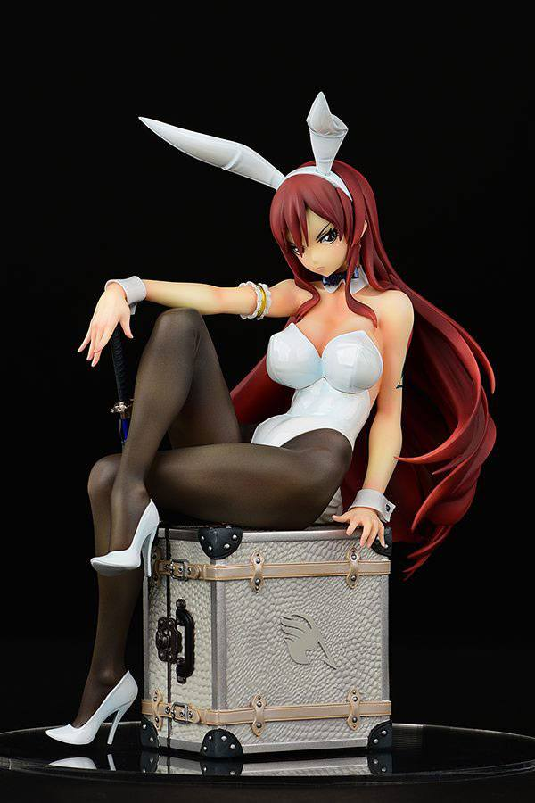 Statuette Fairy Tail Erza Scarlet Bunny Girl Style Type White 20cm 1001 Figurines