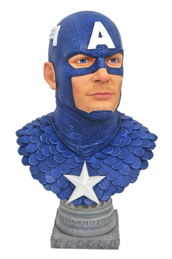 Buste Marvel Comics Legends in 3D Captain America 25cm 1001 figurines