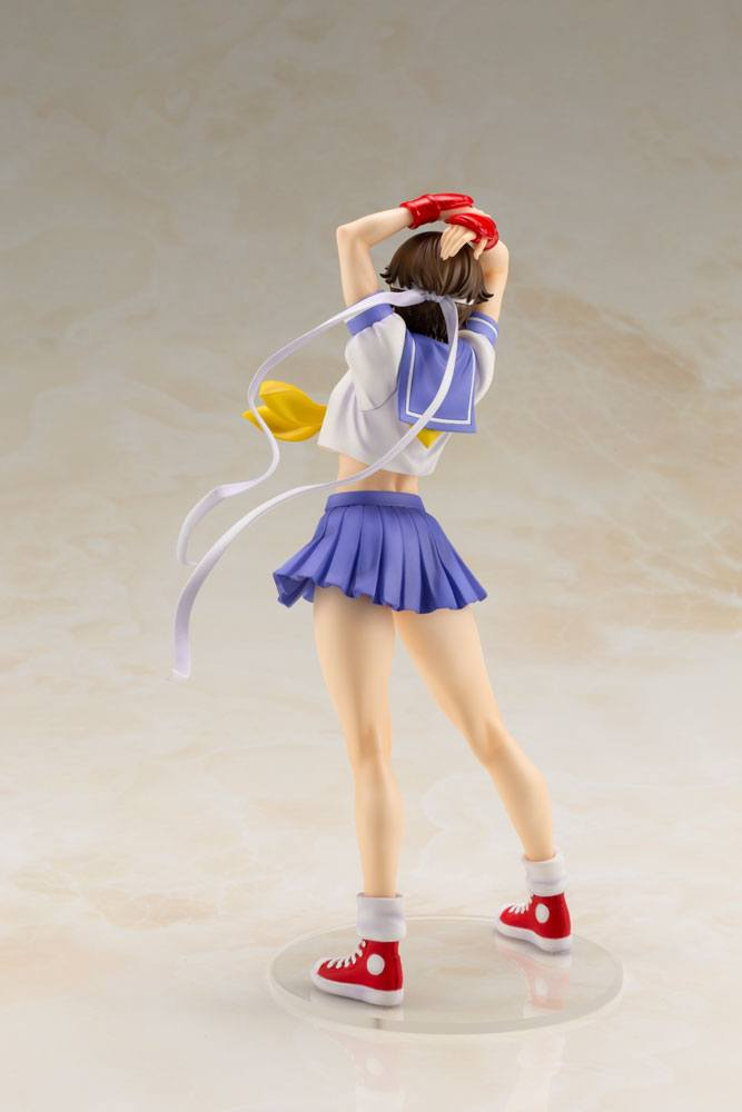 Statuette Street Fighter Bishoujo Sakura Round 2 - 22cm 1001 Figurines  (4)