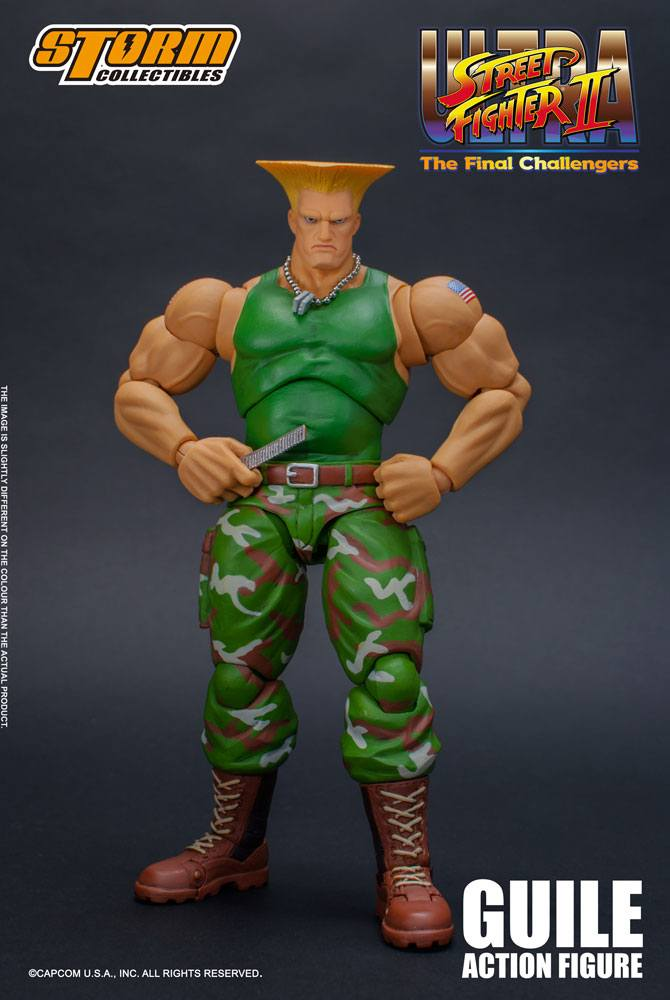 Figurine Ultra Street Fighter II The Final Challengers Guile 16cm 1001 Figurines (11)