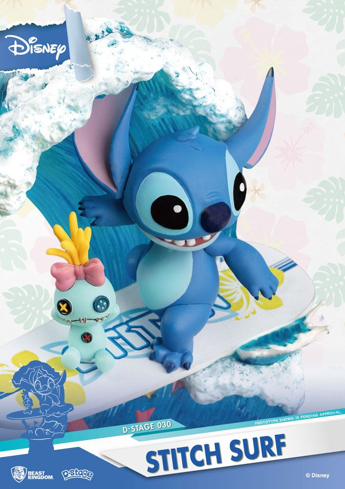 Diorama Disney Summer Series D-Stage Stitch Surf 15cm 1001 figurines (5)