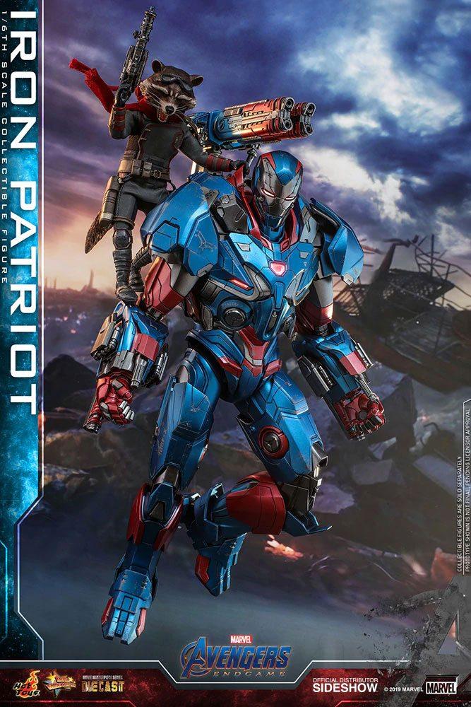 Figurine Avengers Endgame Movie Masterpiece Series Diecast Iron Patriot 32cm 1001 figurines (2)