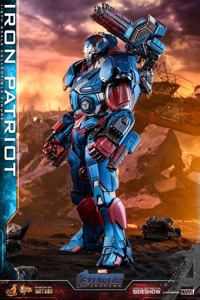 Figurine Avengers Endgame Movie Masterpiece Series Diecast Iron Patriot 32cm 1001 figurines (5)