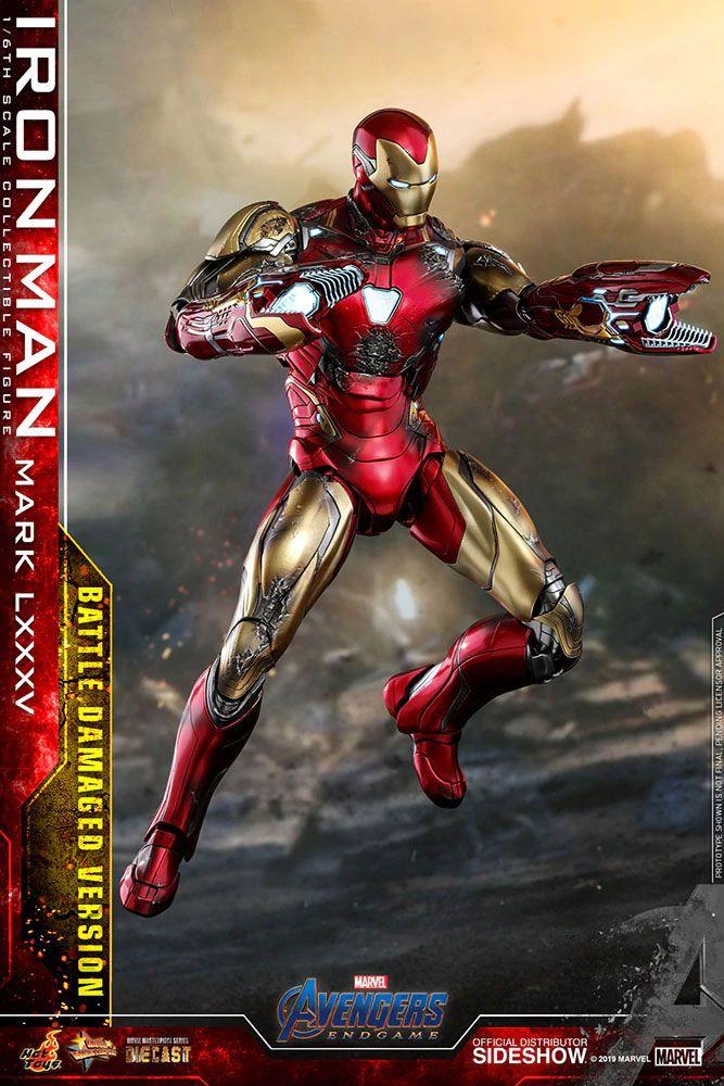 Figurine Avengers Endgame MMS Diecast Iron Man Mark LXXXV Battle Damaged Ver. 32cm 1001 figurines (6)
