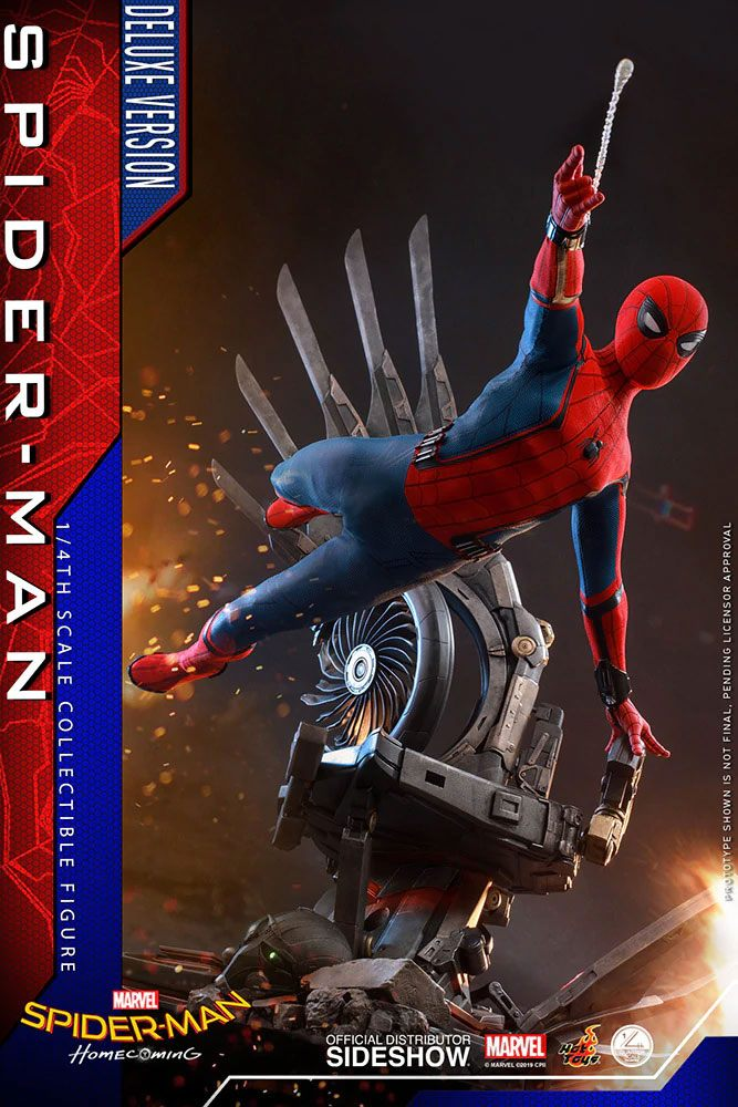 Figurine Spider-Man Homecoming Quarter Scale Series Spider-Man Deluxe Version 44cm 1001 Figurines (2)
