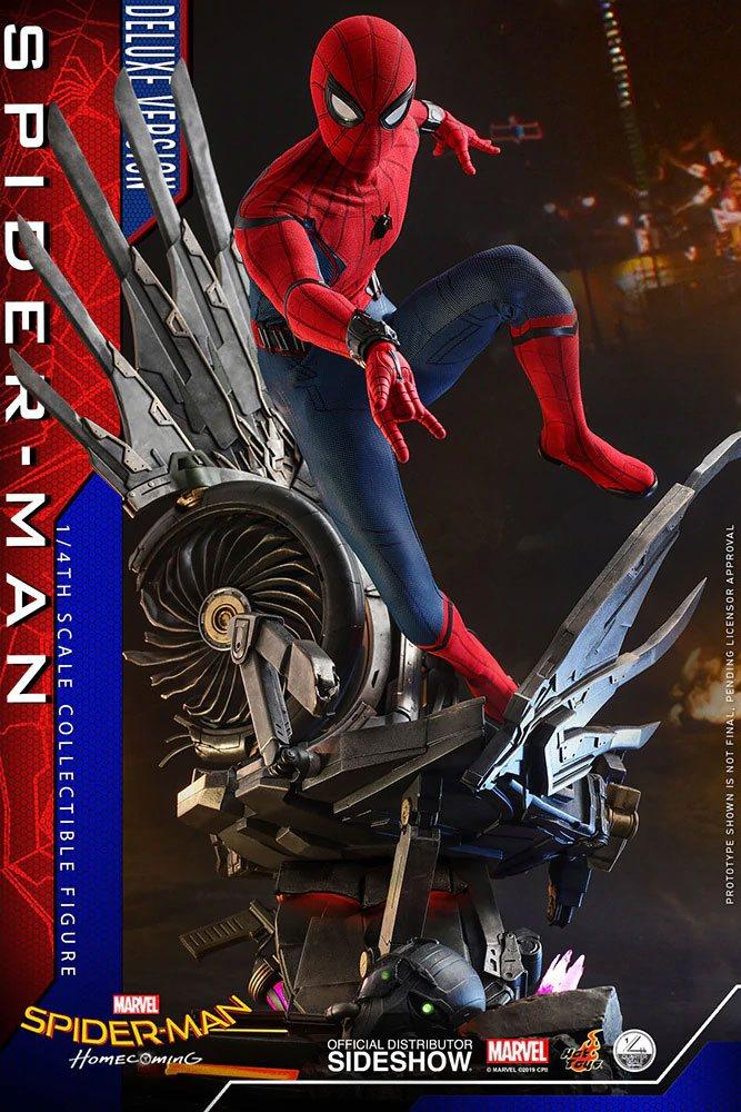 Figurine Spider-Man Homecoming Quarter Scale Series Spider-Man Deluxe Version 44cm 1001 Figurines (3)