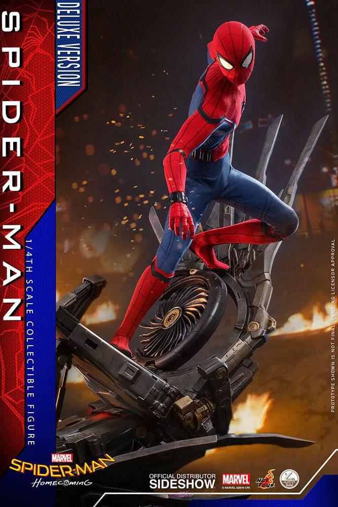 Figurine Spider-Man Homecoming Quarter Scale Series Spider-Man Deluxe Version 44cm 1001 Figurines (5)