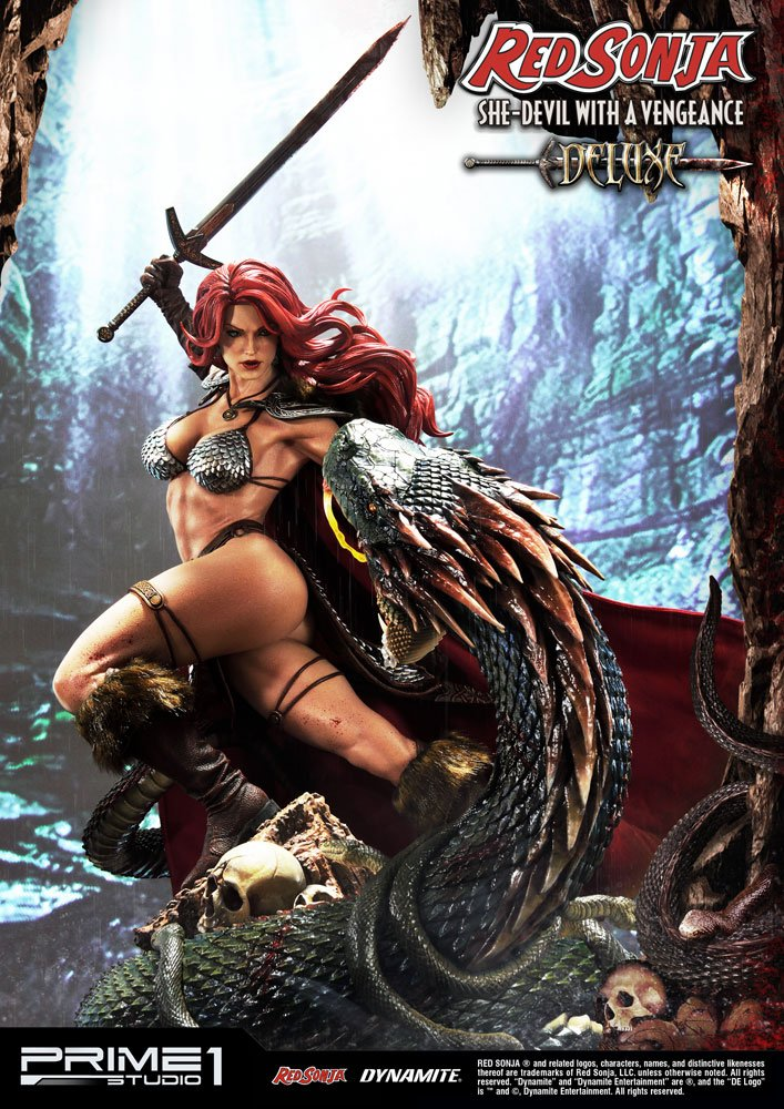Statue Red Sonja She-Devil with a Vengeance Deluxe Version 79 cm 1001 Figurines (1)