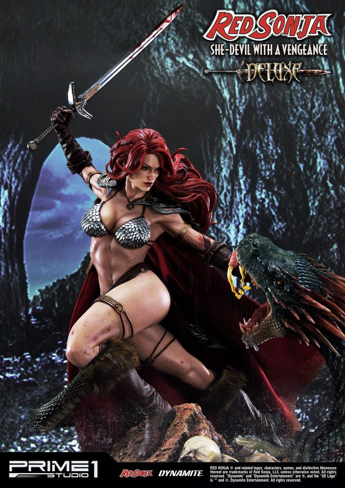 Statue Red Sonja She-Devil with a Vengeance Deluxe Version 79 cm 1001 Figurines (3)