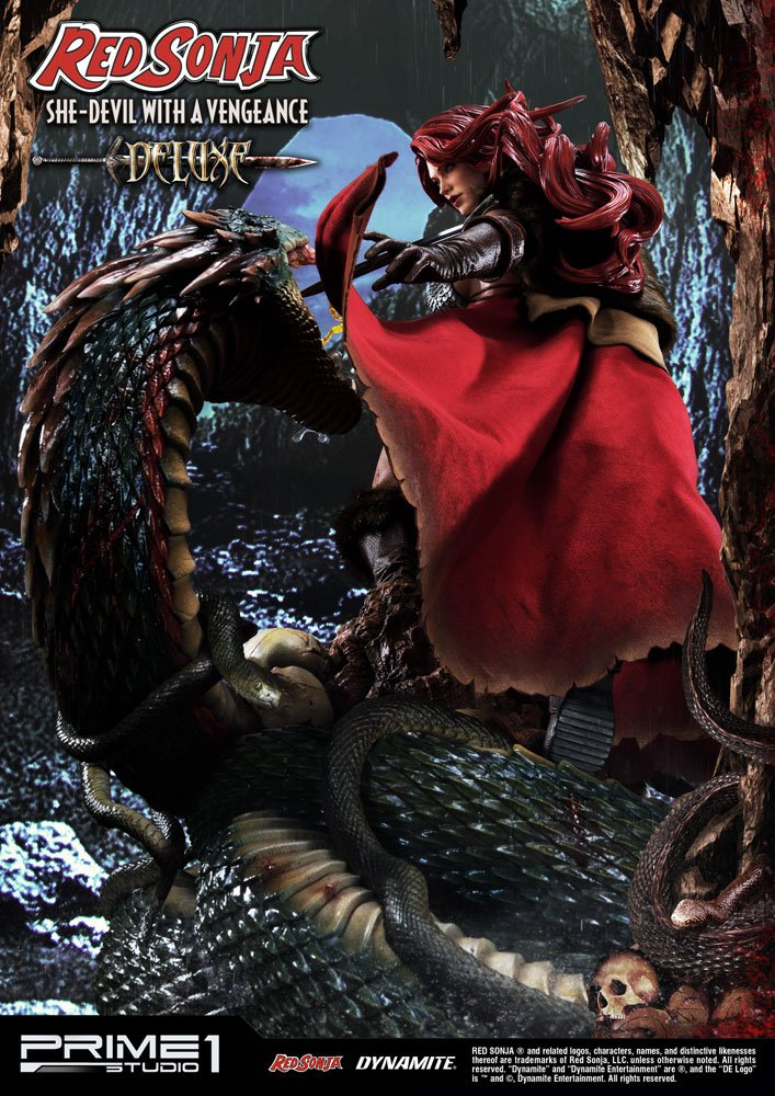 Statue Red Sonja She-Devil with a Vengeance Deluxe Version 79 cm 1001 Figurines (4)