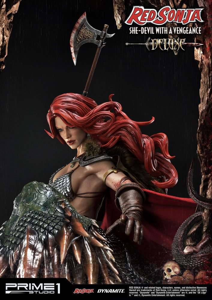 Statue Red Sonja She-Devil with a Vengeance Deluxe Version 79 cm 1001 Figurines (7)
