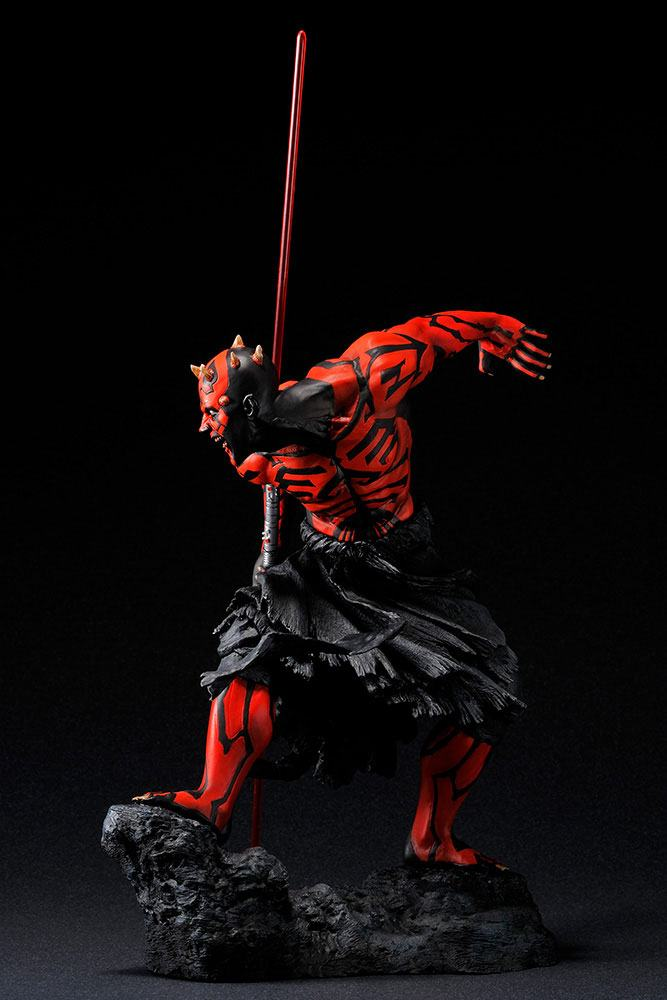 Statuette Star Wars ARTFX Darth Maul Japanese Ukiyo-E Style Light-Up Edition 28cm 1001 Figurines (2)