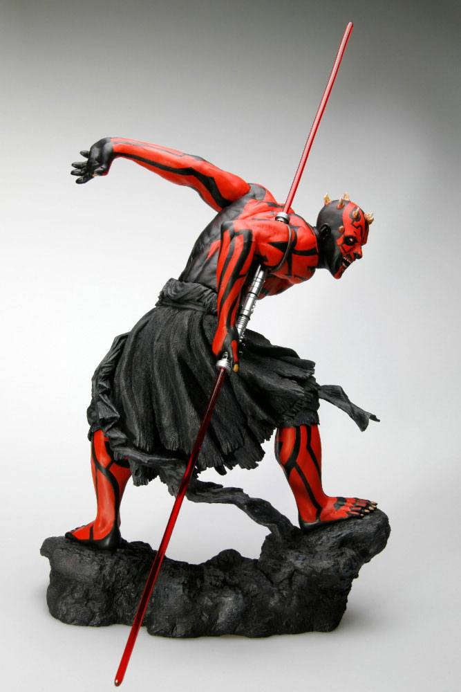 Statuette Star Wars ARTFX Darth Maul Japanese Ukiyo-E Style Light-Up Edition 28cm 1001 Figurines (4)
