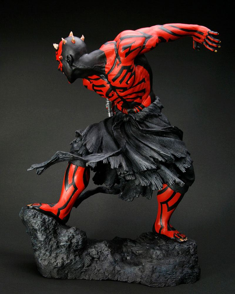 Statuette Star Wars ARTFX Darth Maul Japanese Ukiyo-E Style Light-Up Edition 28cm 1001 Figurines (5)