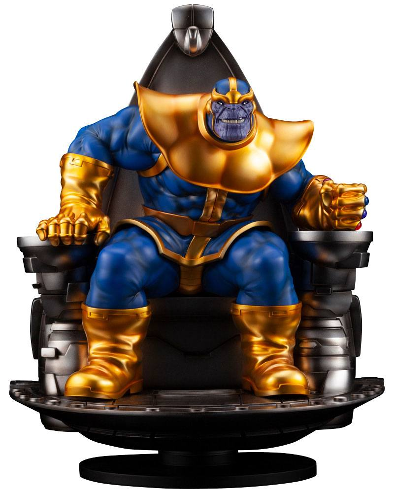 Statuette Marvel Fine Art Thanos on Space Throne 45cm 1001 Figurines (1)