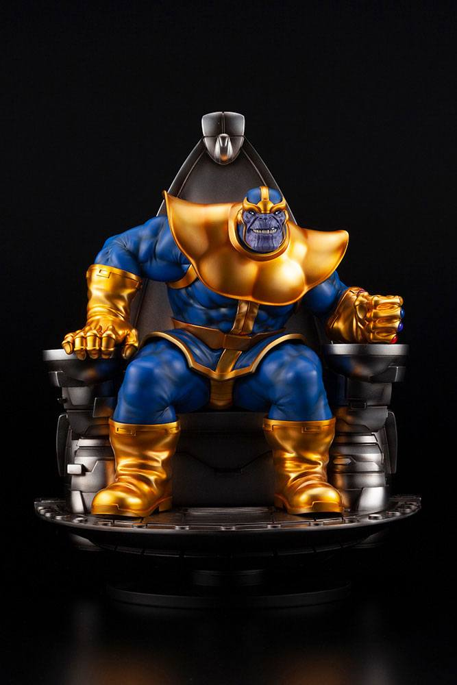Statuette Marvel Fine Art Thanos on Space Throne 45cm 1001 Figurines (2)