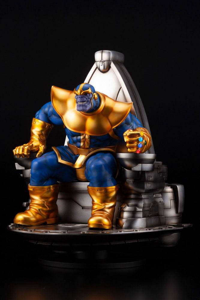 Statuette Marvel Fine Art Thanos on Space Throne 45cm 1001 Figurines (4)