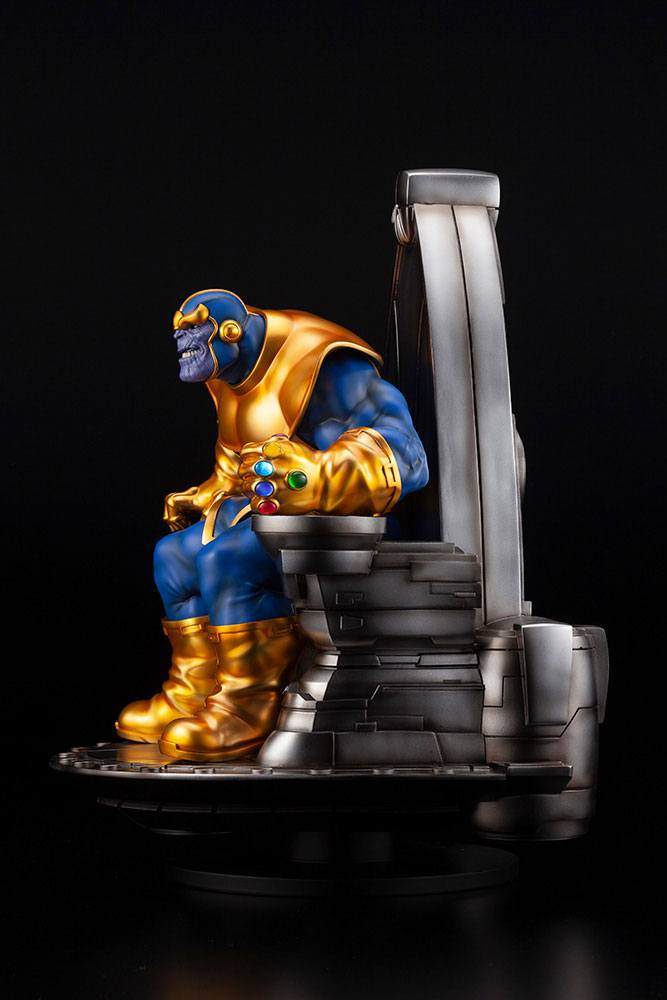 Statuette Marvel Fine Art Thanos on Space Throne 45cm 1001 Figurines (5)